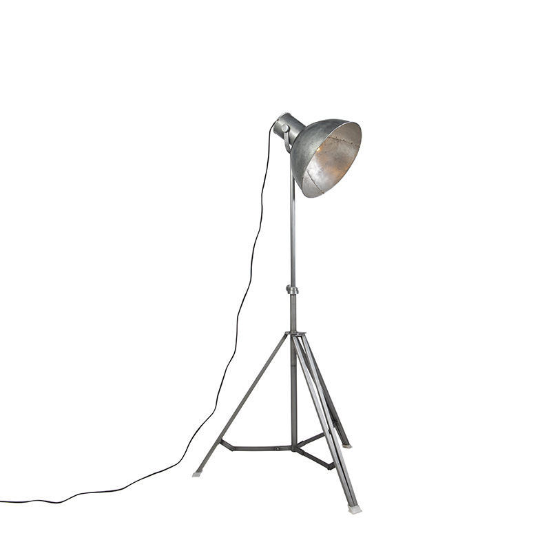 Industriële vloerlamp driepoot grijs Samia