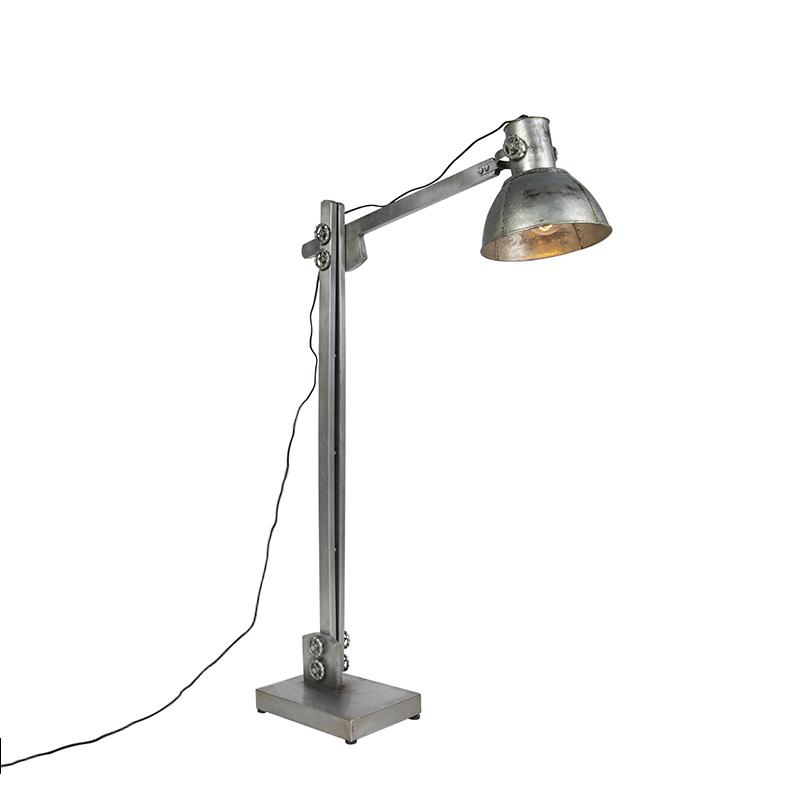 Industriële vloerlamp grijs - Samia