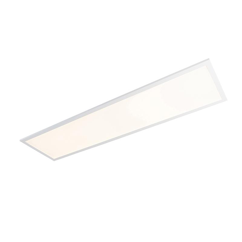 Langwerpige plafondlamp wit LED met afstandsbediening - Orch