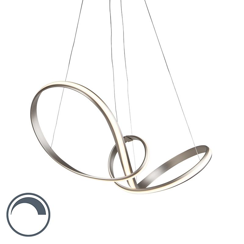 Moderne hanglamp staal 80 cm incl. LED en dimmer - Belinda