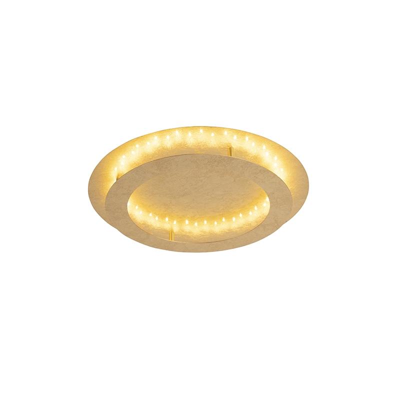 Art deco plafondlamp goud/messing 50 cm incl. LED - Belle