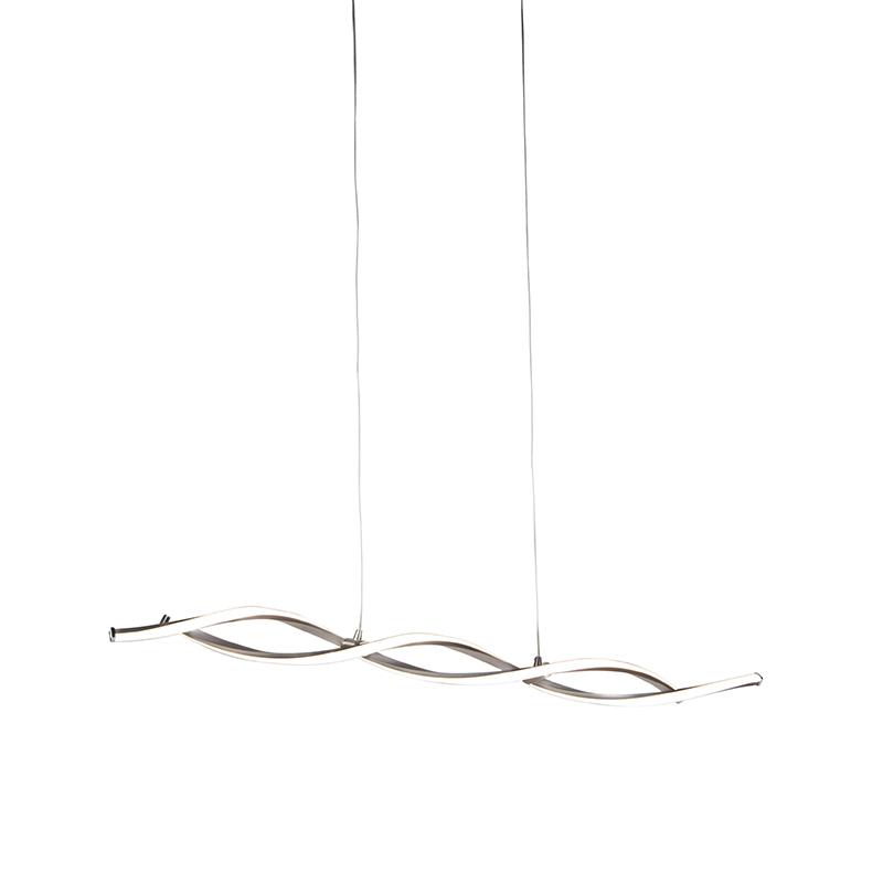 Moderne hanglamp staal incl. LED en dimmer - Paulina