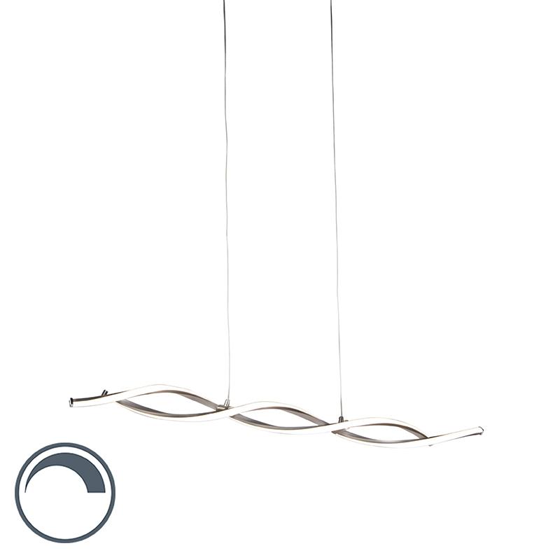 Moderne hanglamp gedraaid staal incl. LED dimbaar - Paulina