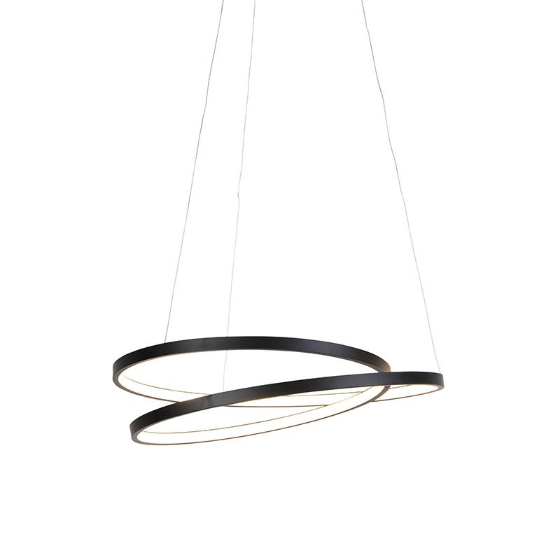 Design hanglamp zwart 55cm incl. LED dimbaar - Rowan