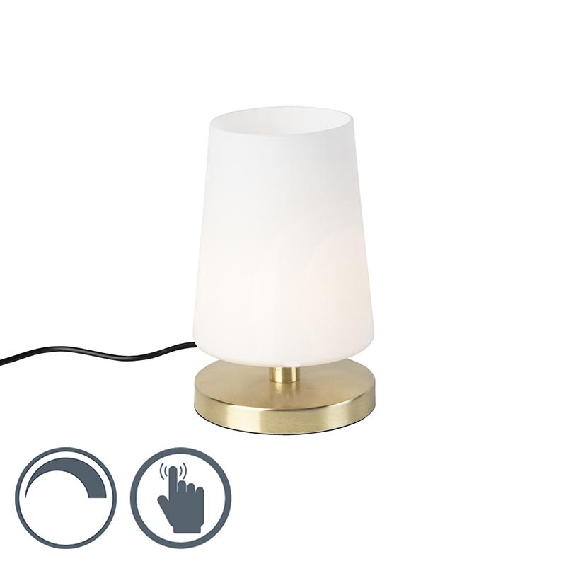 Moderne tafellamp messing met touchdimmer incl. LED - Magma