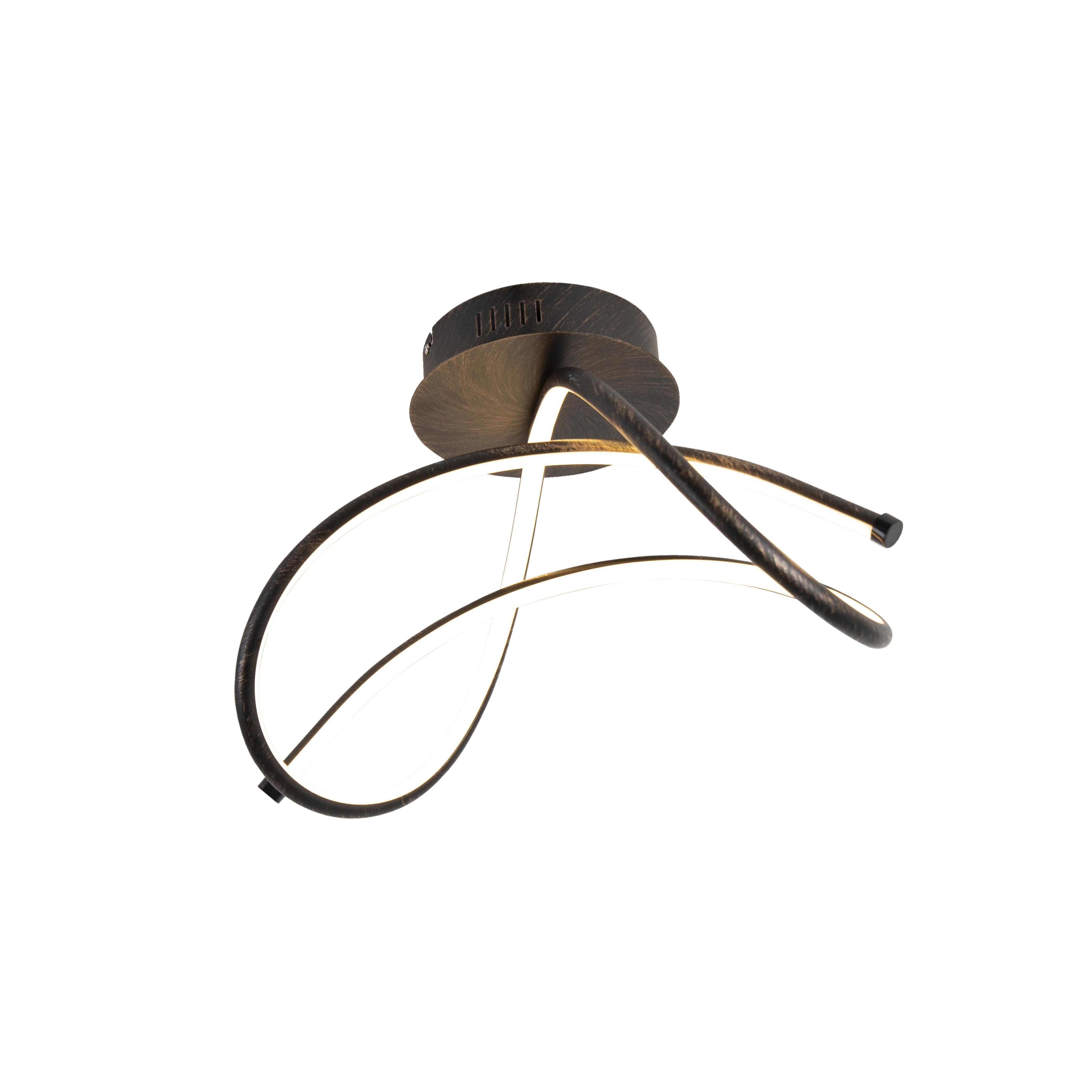 Design plafondlamp roestbruin incl. LED - Viola