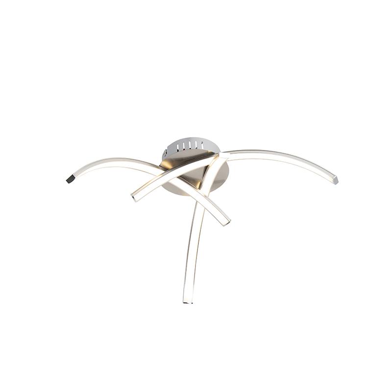 Design plafondlamp staal 3-lichts incl. LED - Faleri