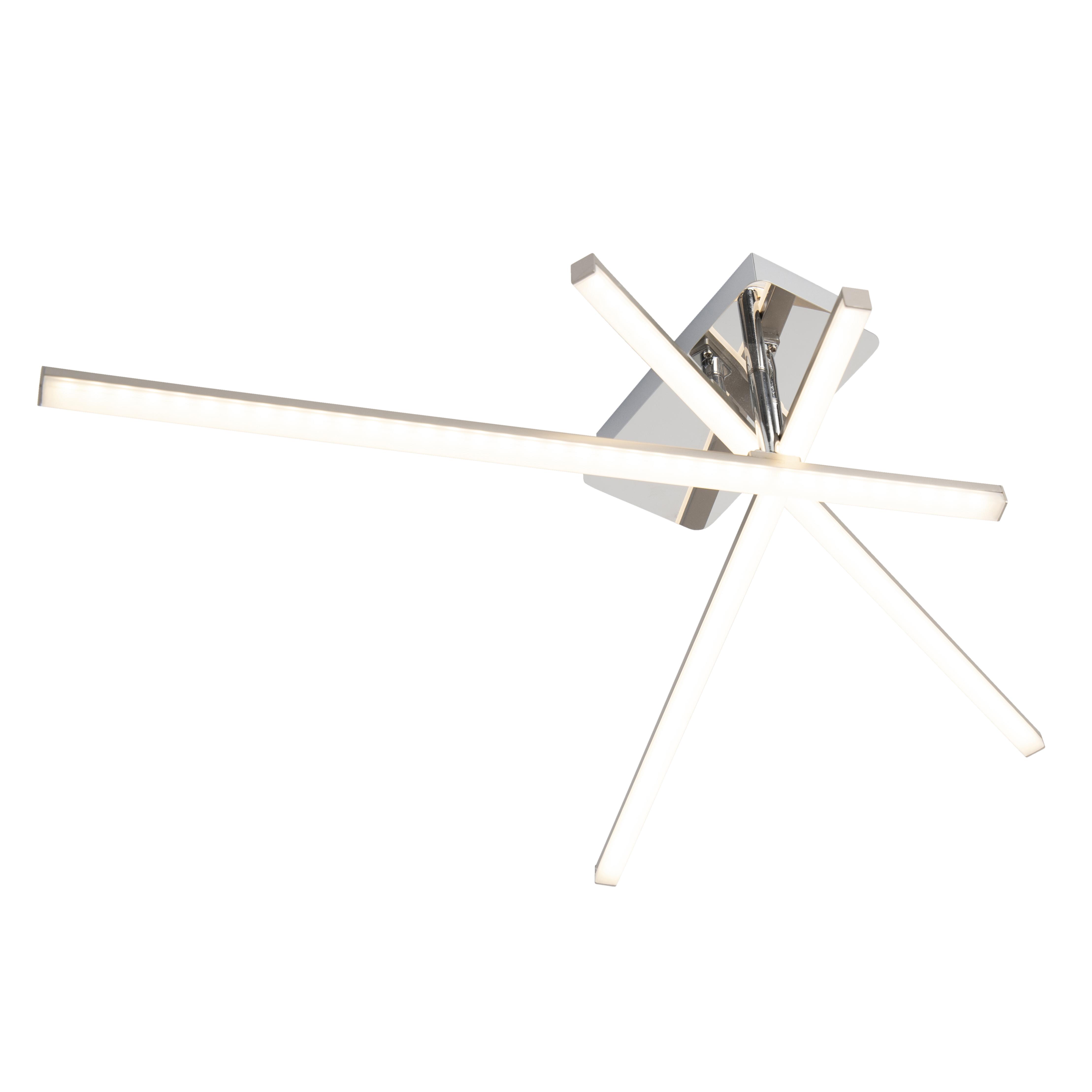 Design plafondlamp staal draaibare armen incl. LED - Simona tre