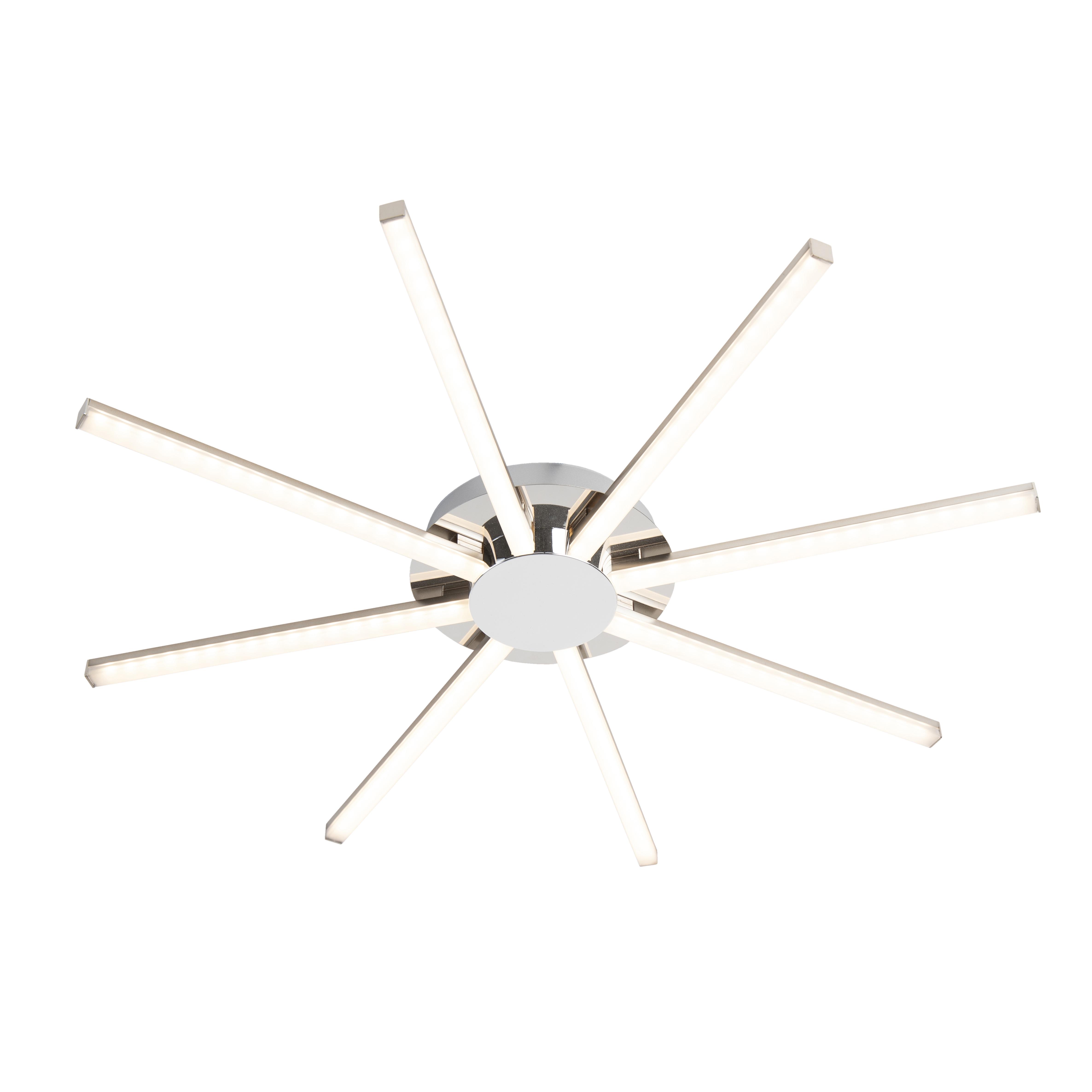 Design plafondlamp staal incl. LED - Simona otto