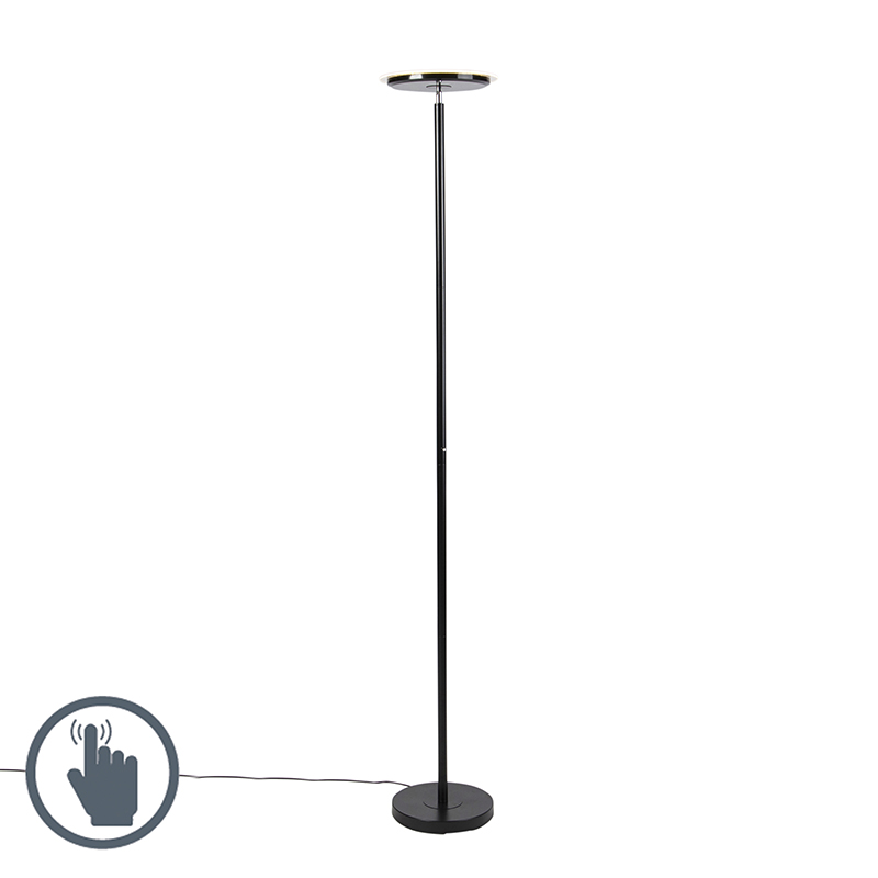 Moderne vloerlamp zwart incl. LED - Hanz
