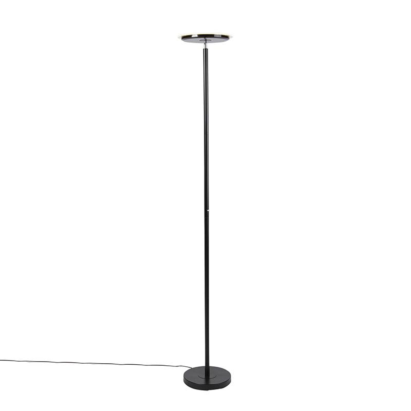 Moderne vloerlamp zwart incl. LED met touch dimmer - Hanz