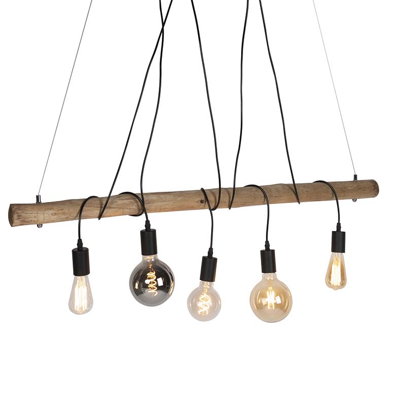 Landelijke hanglamp zwart - Dami