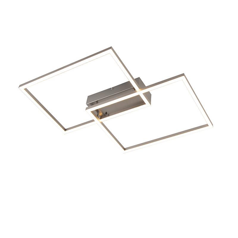 Plafonnière aluminium incl. LED en afstandsbediening - Plazas 2
