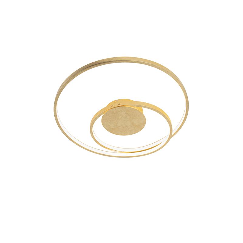 Art Deco Plafondlamp Goud Dimbaar Incl. Led - Rowan