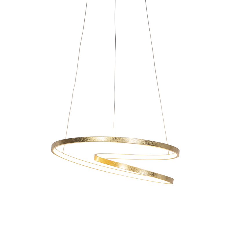 Art Deco hanglamp goud incl. LED - Rowan