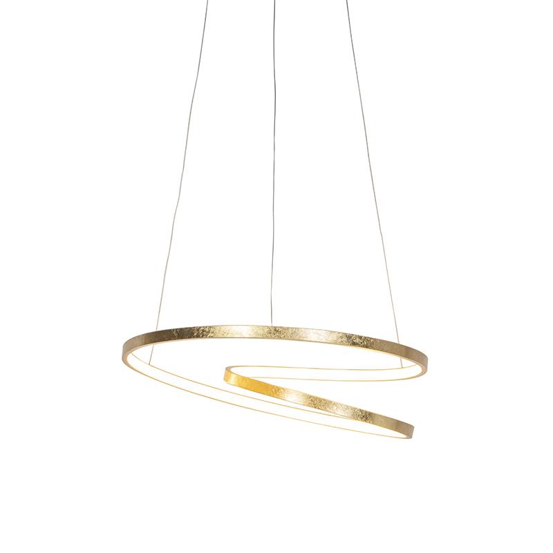 Art Deco Hanglamp Goud Dimbaar Incl. Led - Rowan
