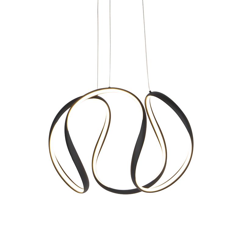 Design hanglamp zwart dimbaar incl. LED - Rowana