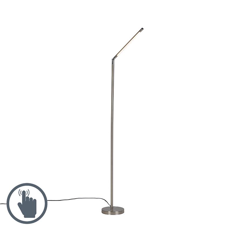 Moderne vloerlamp staal incl. LED - Berdien