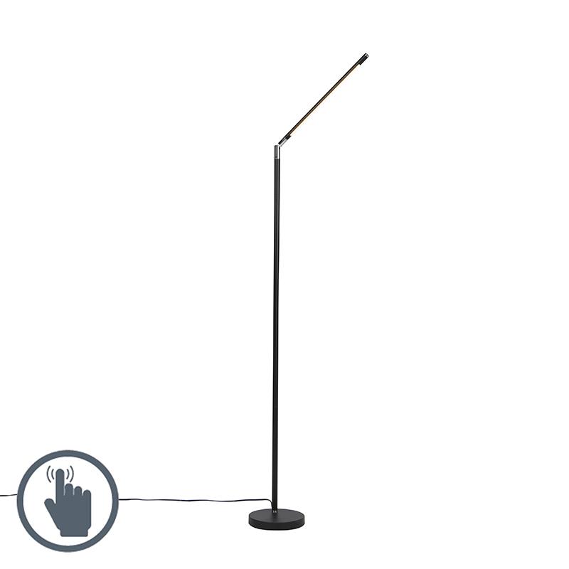 Moderne vloerlamp zwart incl. LED - Berdien