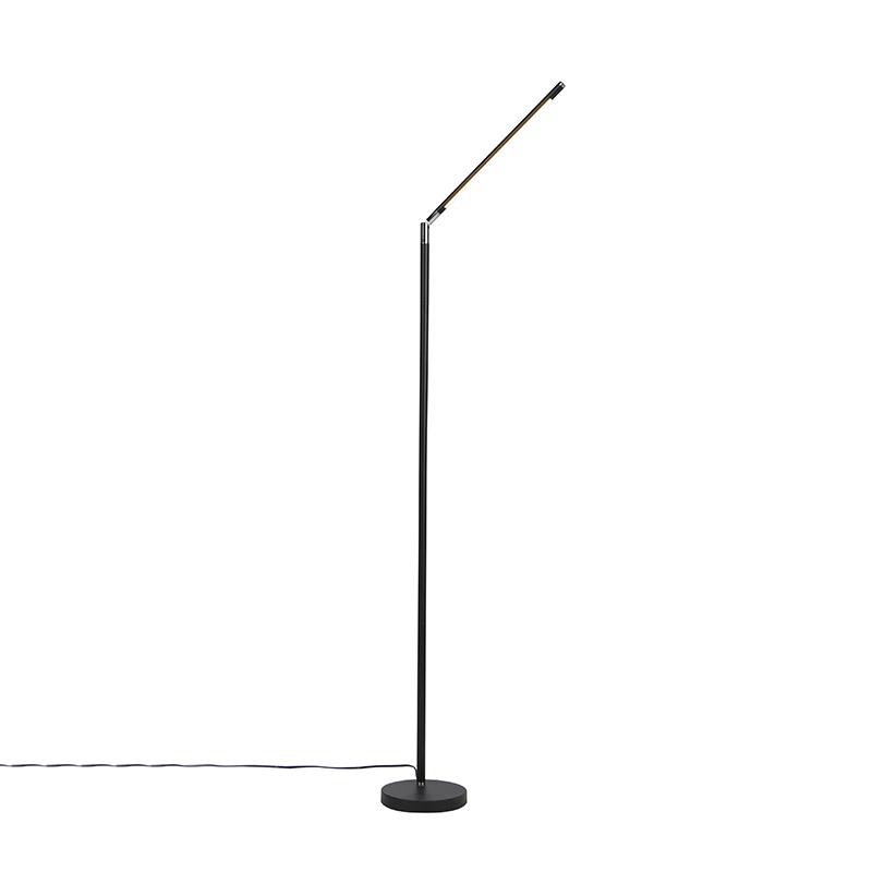 Moderne vloerlamp zwart incl. LED met touch dimmer - Berdien