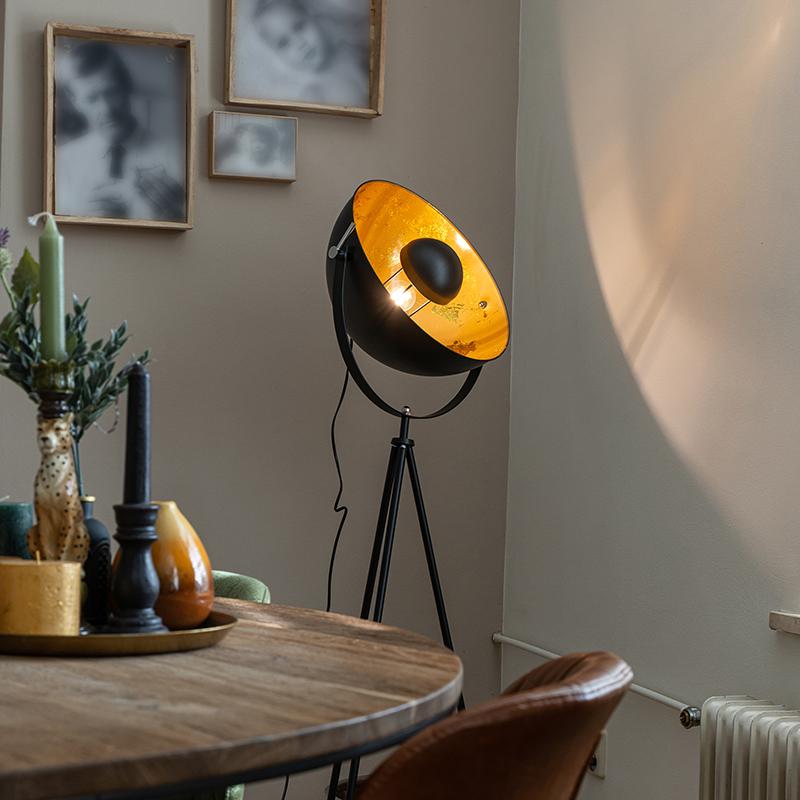 Industriële vloerlamp tripod zwart - Magna 40 Eglip