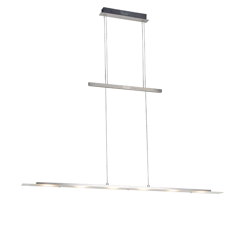 Design hanglamp staal incl. LED - Platina