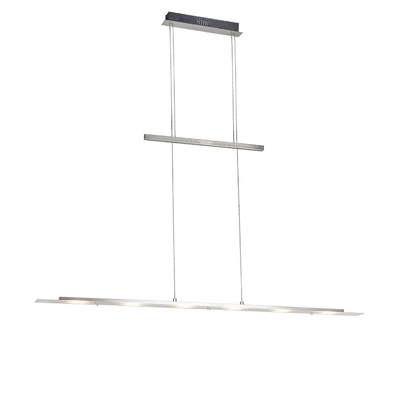 Design hanglamp staal verstelbaar 120cm incl. LED - Platina
