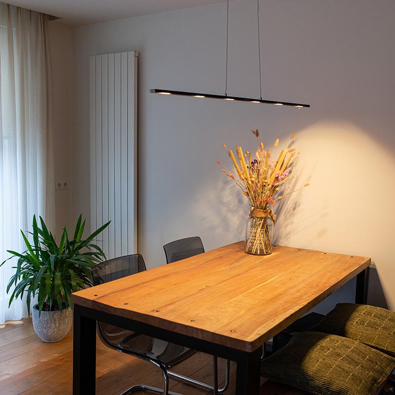 Design hanglamp zwart incl. LED met touchdimmer - Platina