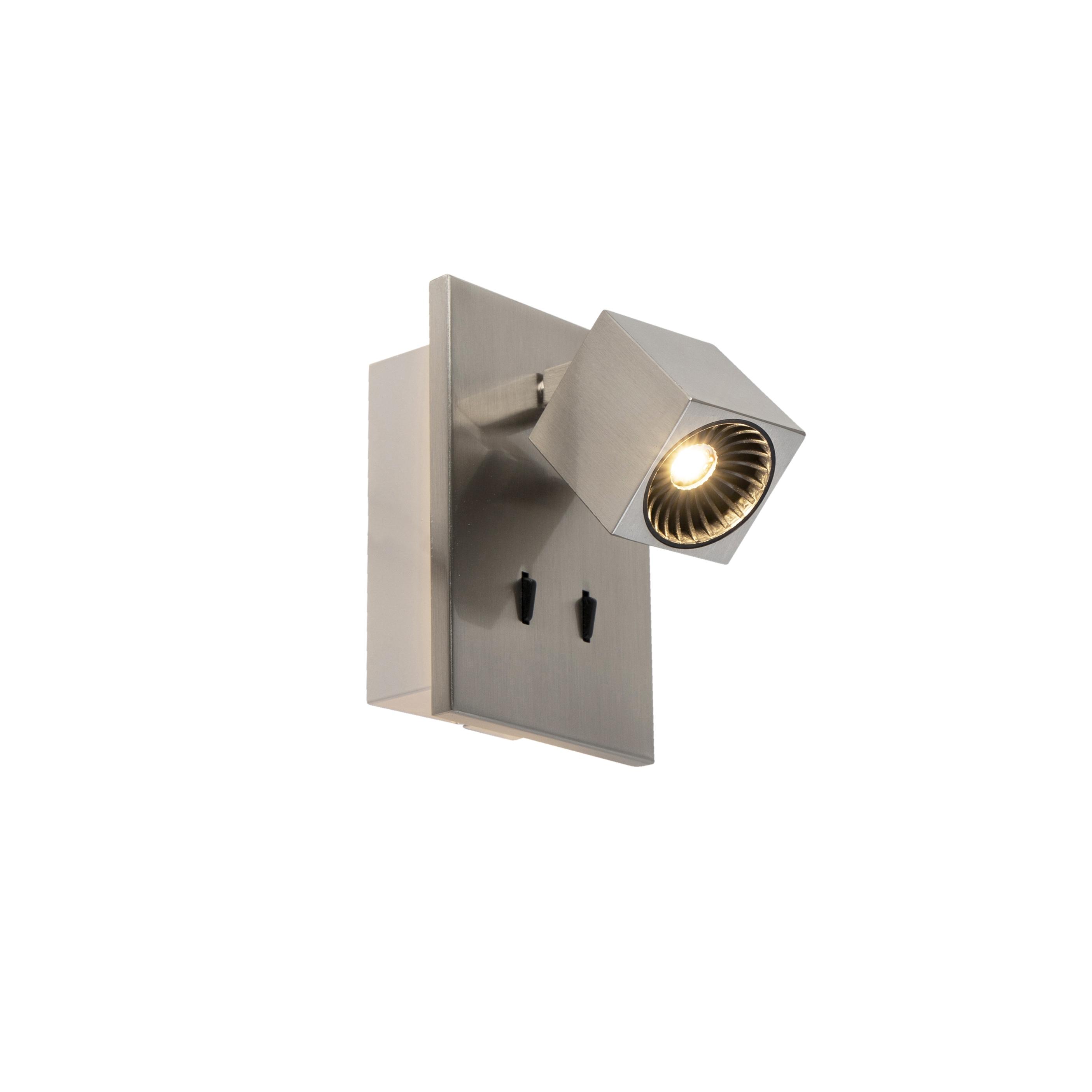 Moderne wandlamp staal incl. LED kantelbaar - Cupra