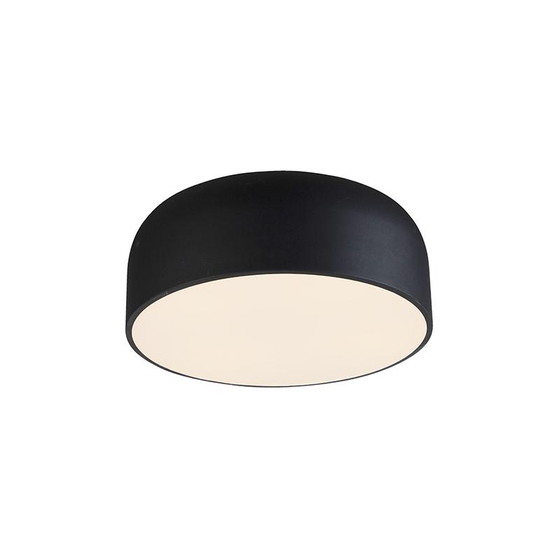 Stylowa lampa sufitowa ściemniana na czarno - Balon