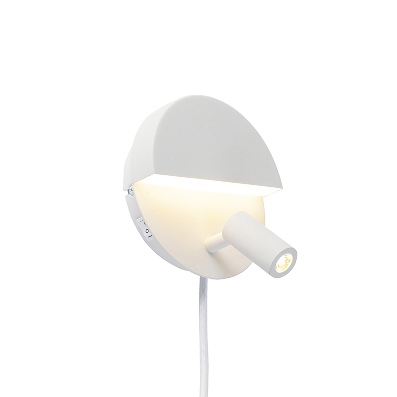 Design wandlamp wit incl. LED - Marion
