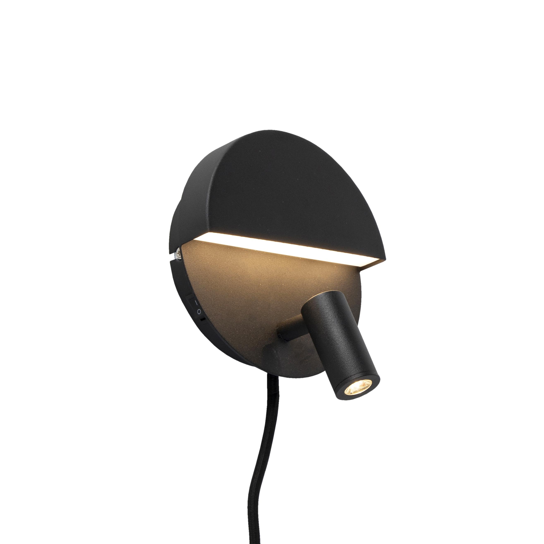 Design wandlamp zwart incl. LED - Marion