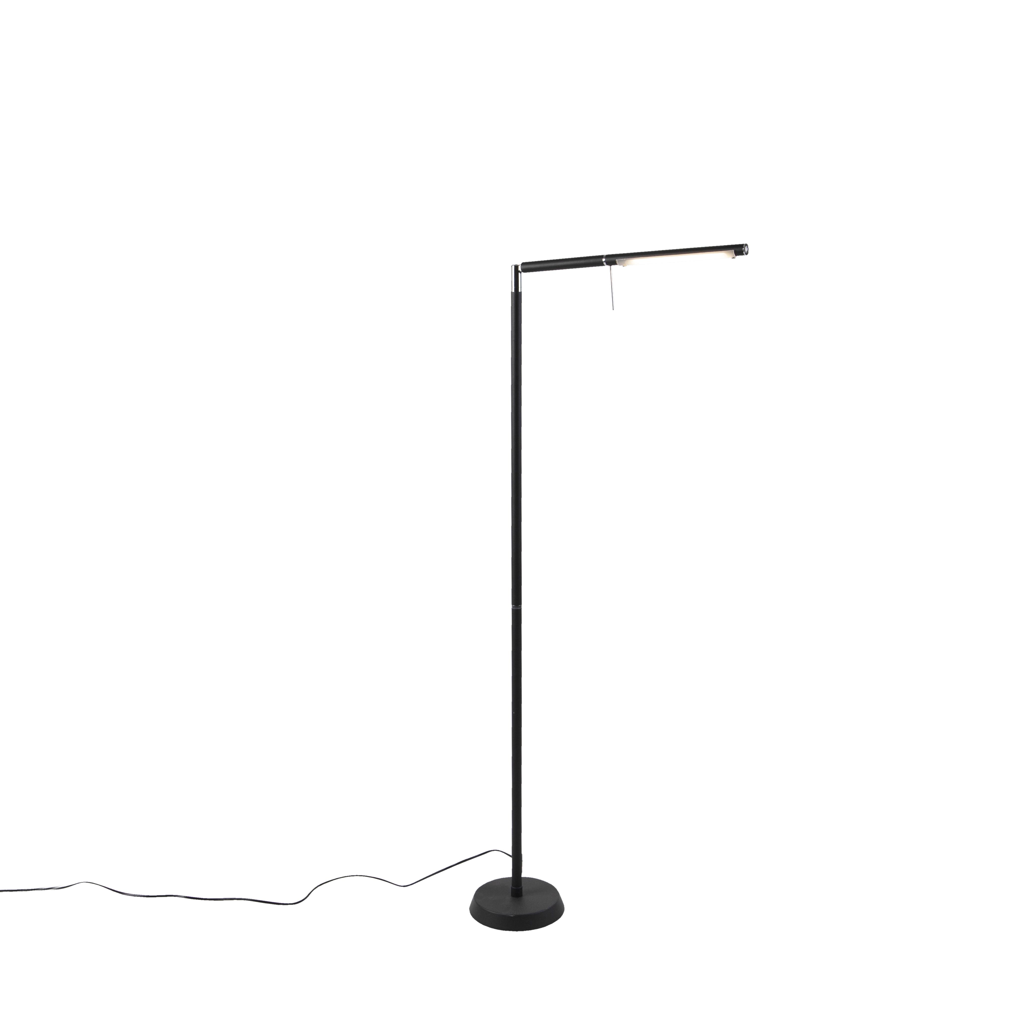 Moderne vloerlamp zwart incl. LED - Grando