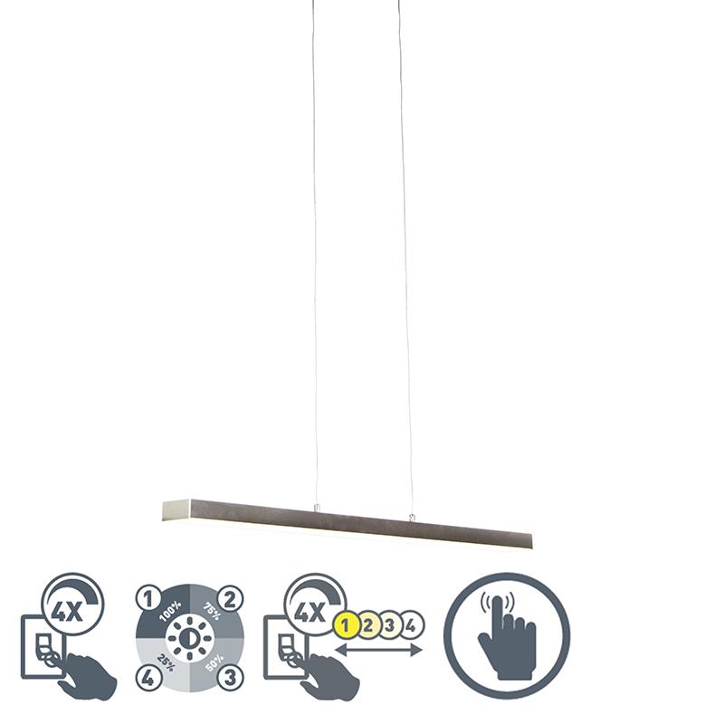 Lampa wisząca stal 4-stopniowe ściemnienie LED ściemniacz dotykowy - Oganda