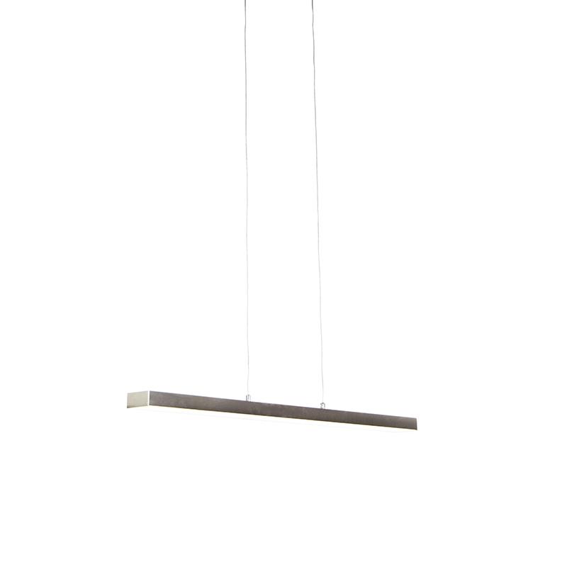 Hanglamp staal vier staps dimbaar incl. LED met touch dimmer - Oganda