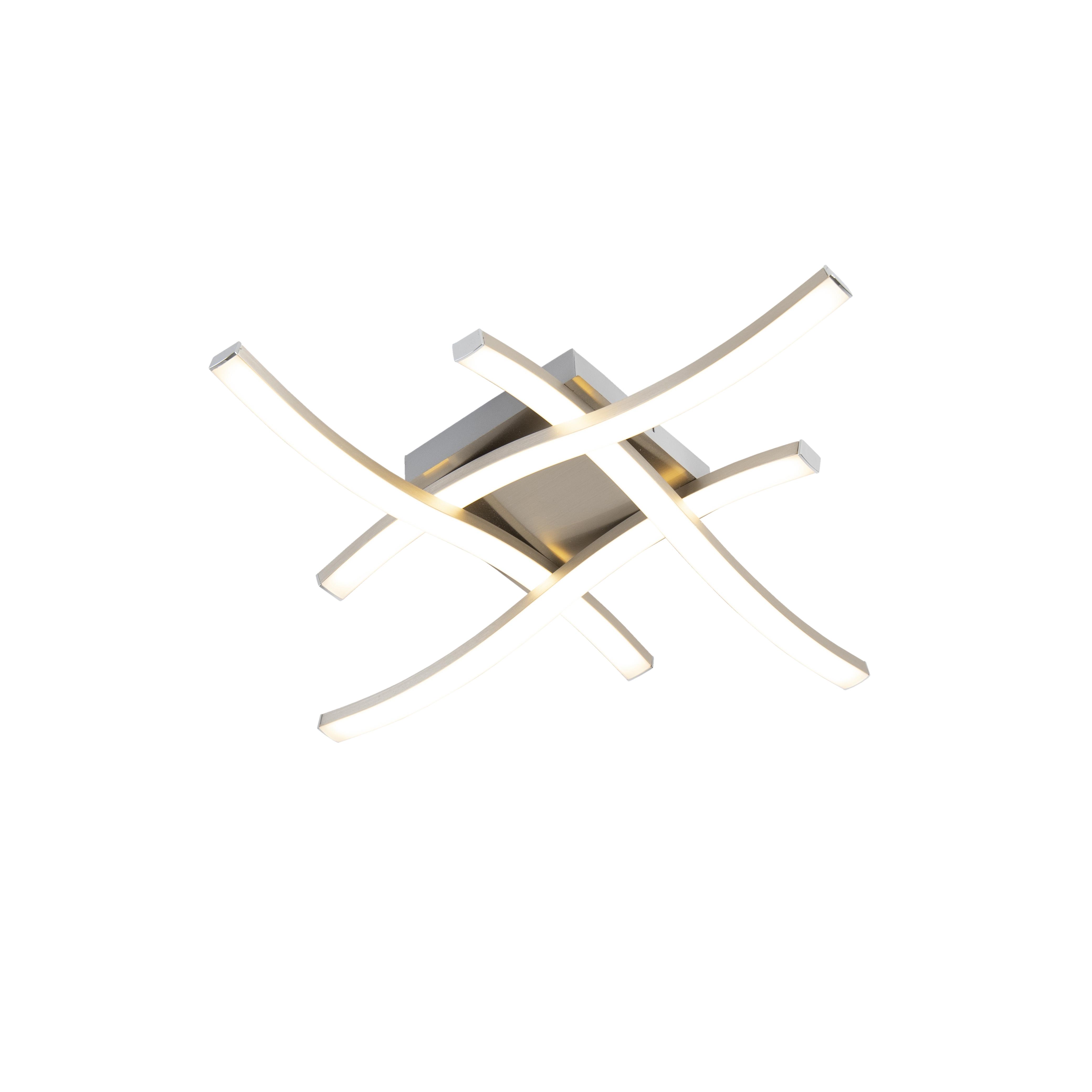 Design vierkante plafondlamp staal incl. LED - Onda