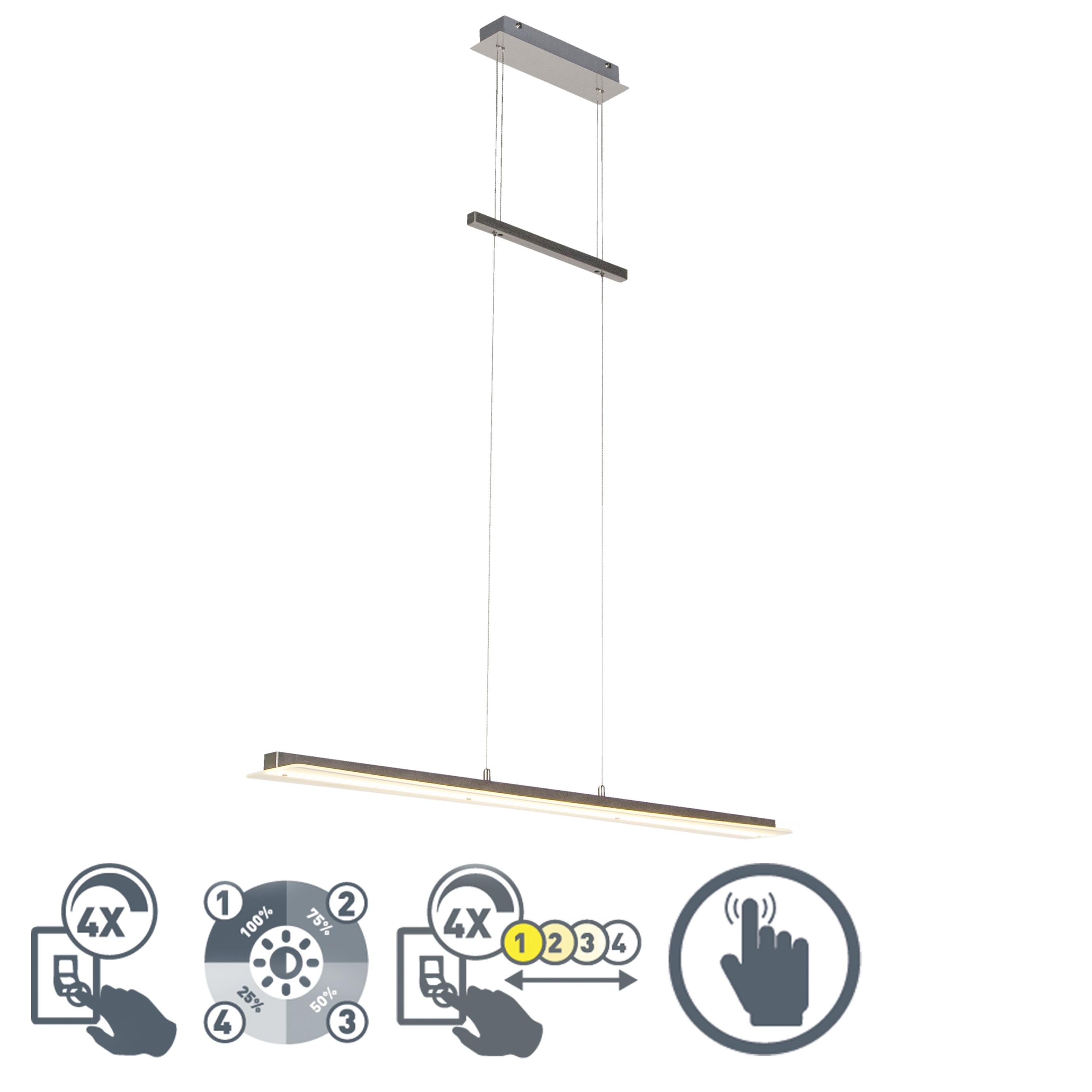 Moderne hanglamp staal incl. LED - Masha