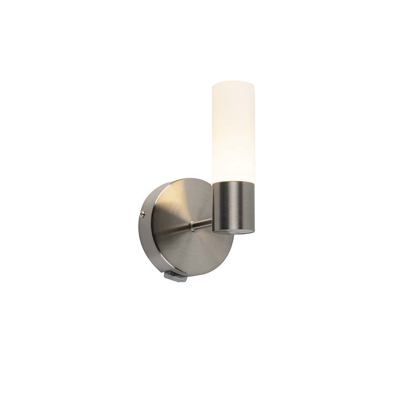 Moderne wandlamp staal incl. LED IP44 - Dilan