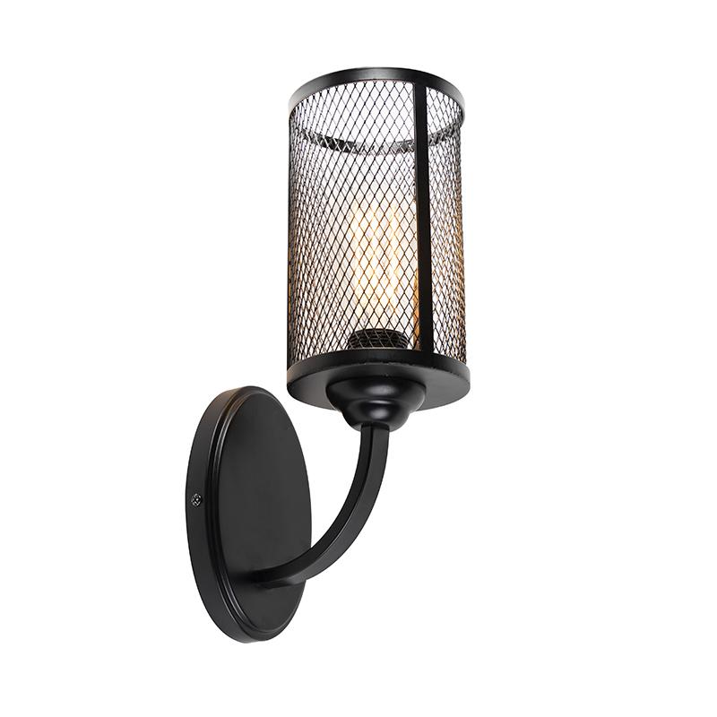 Industriële wandlamp zwart - Gauze