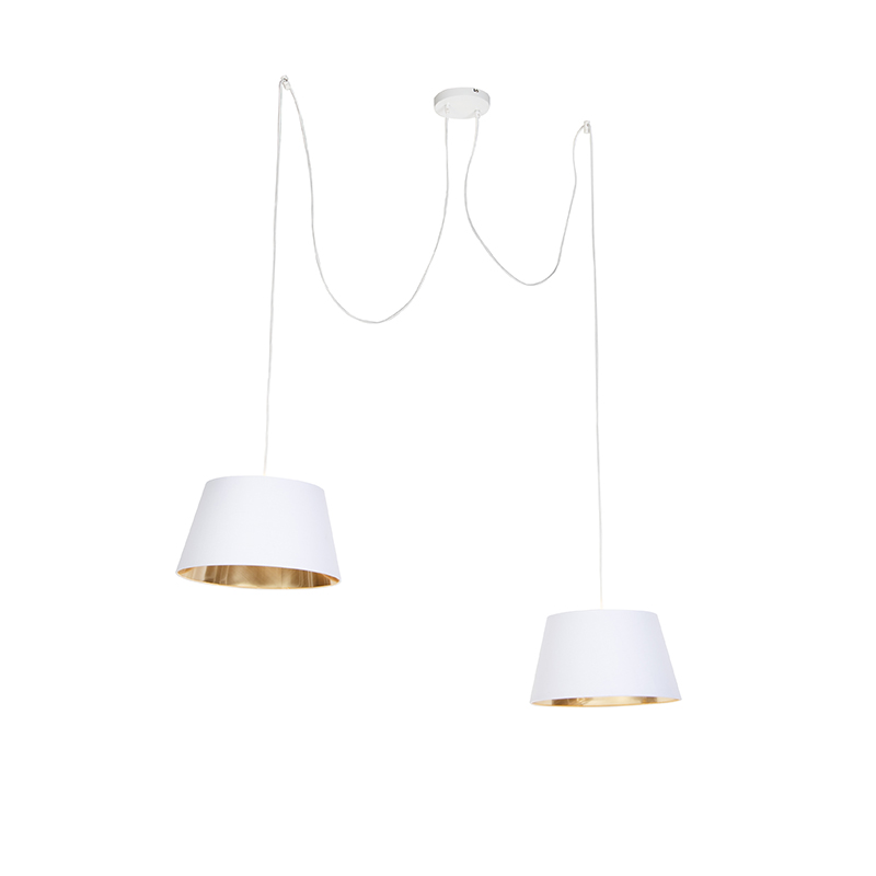 Moderne hanglamp wit - Lofty