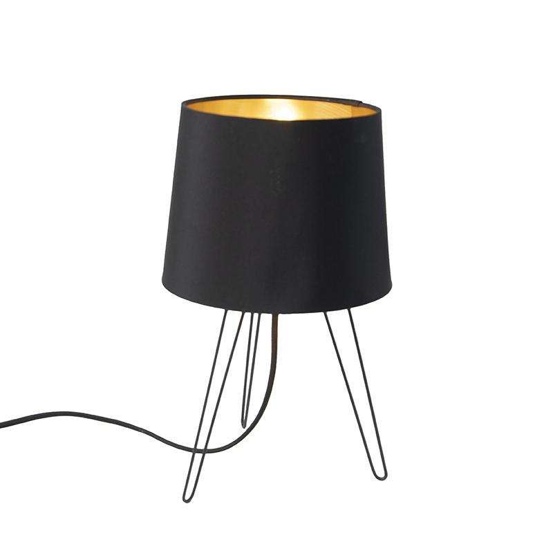 Moderne tafellamp zwart - Lofty