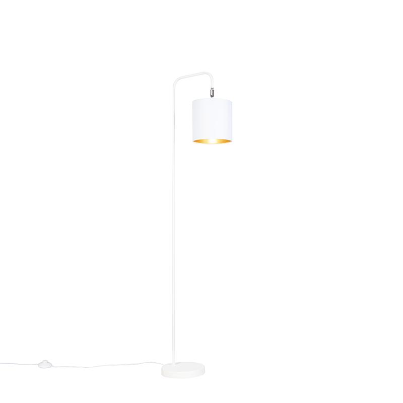 Moderne vloerlamp wit - Lofty