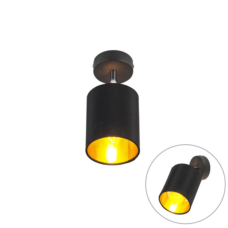 Moderne plafondlamp zwart - Lofty