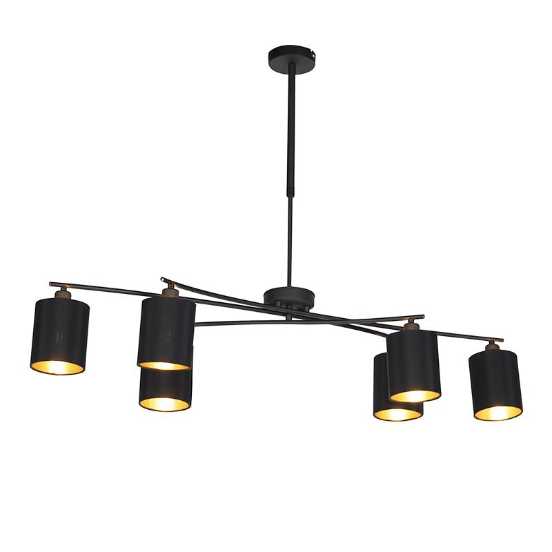 Nowoczesna lampa wisząca czarna regulowana - Lofty