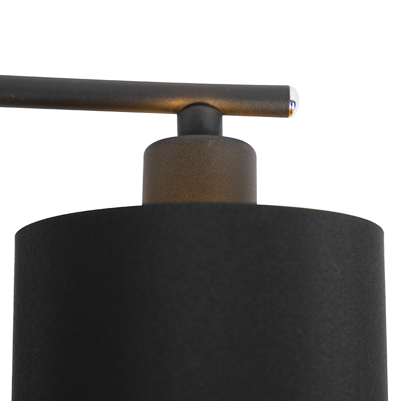 Moderne hanglamp zwart verstelbaar - Lofty
