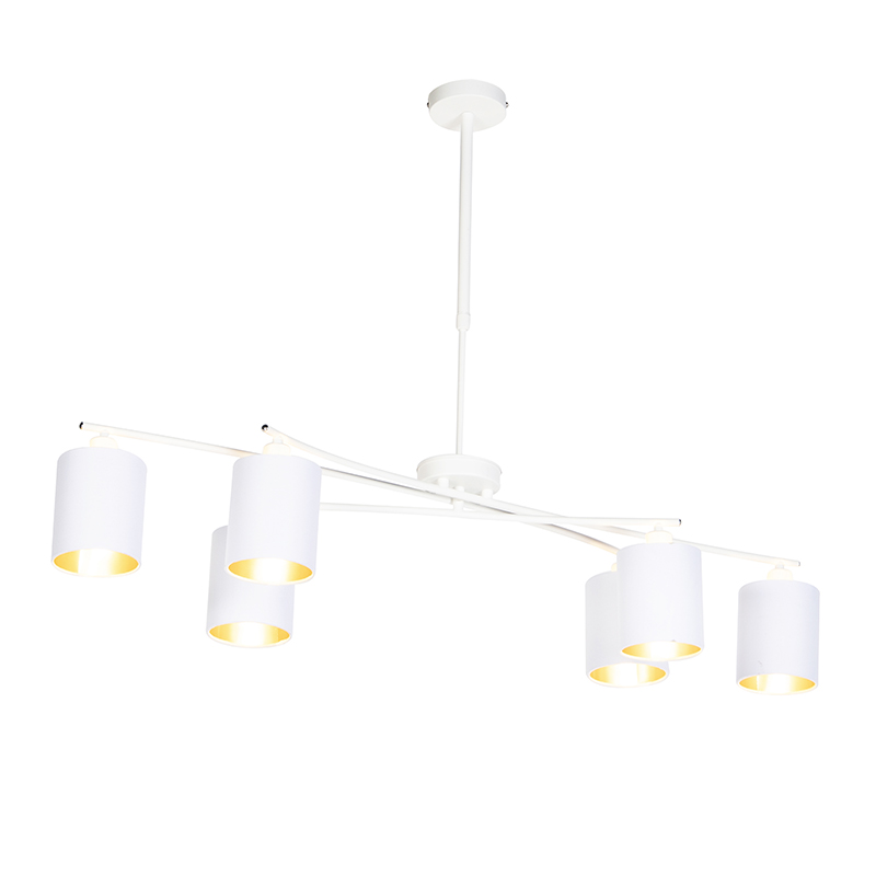 Nowoczesna lampa wisząca biała regulowana - Lofty