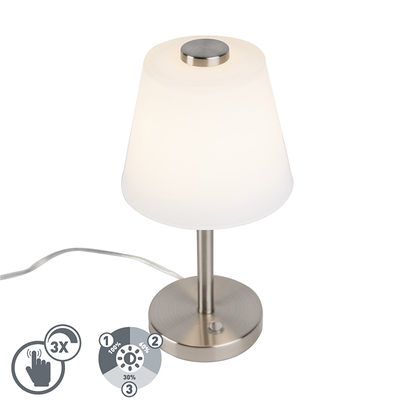 Design tafellamp staal dimbaar incl. LED - Regno