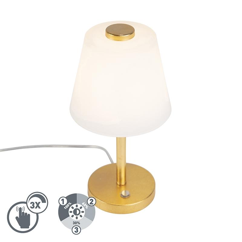 Design tafellamp goud dimbaar incl. LED - Regno