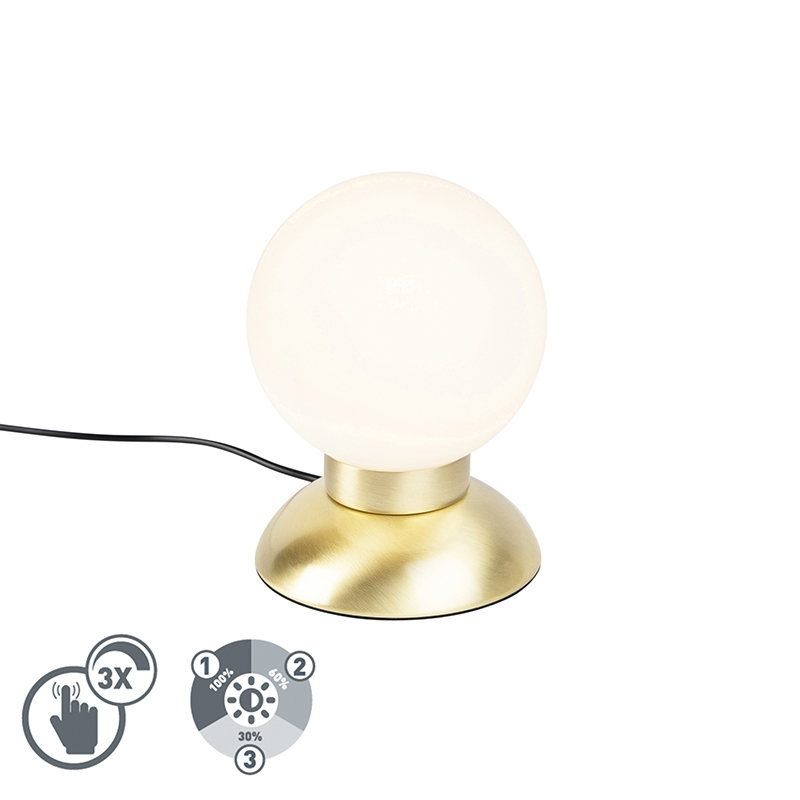Design tafellamp goud dimbaar incl. LED - Majestic