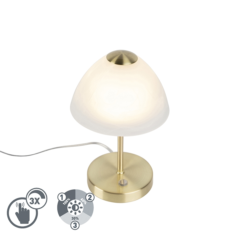 Design Tafellamp Goud Dimbaar Incl. Led - Joya